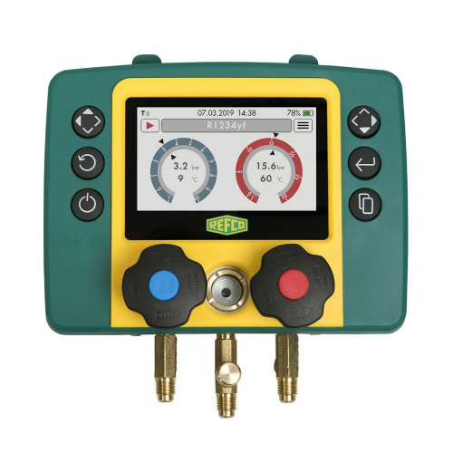 Refco Refmate Air Con Refrigeration Digital Manifold 2 Way